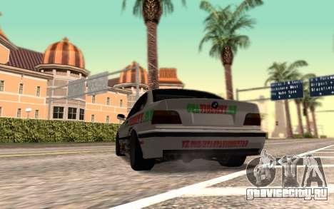 BMW M3 E36 VCDT для GTA San Andreas вид сзади слева