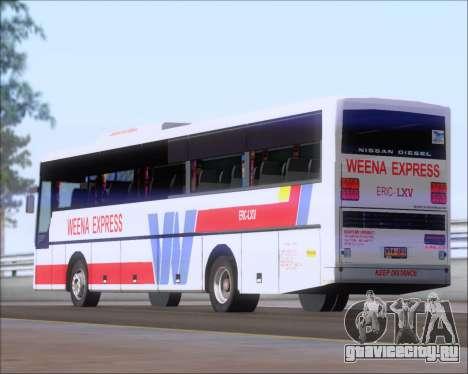Nissan Diesel UD WEENA EXPRESS ERIC LXV для GTA San Andreas вид сверху