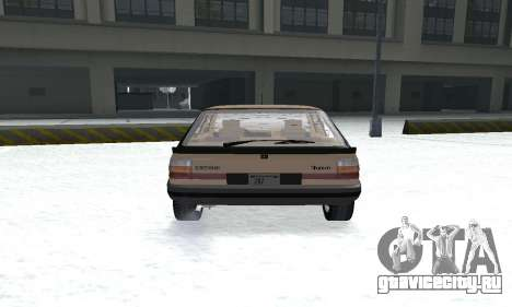 Renault 11 Turbo Phase I 1984 для GTA San Andreas вид сзади