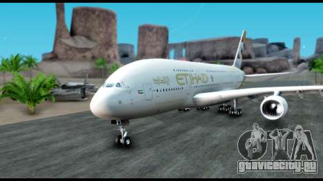 Airbus A380-800 Etihad New Livery для GTA San Andreas