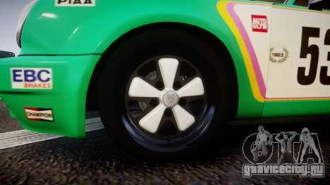 Porsche 911 Carrera RSR 3.0 1974 PJ53 для GTA 4 вид сзади