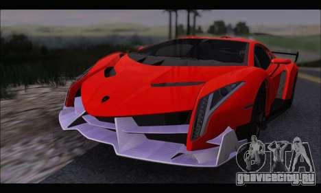 Lamborghini Veneno White-Black 2015 (HQLM) для GTA San Andreas