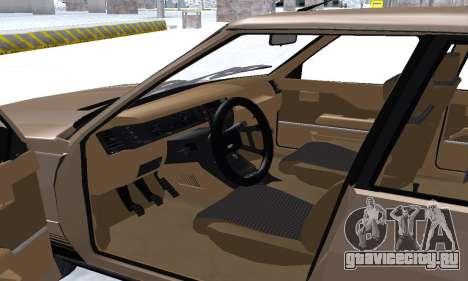 Renault 11 Turbo Phase I 1984 для GTA San Andreas салон