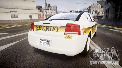 Dodge Charger 2006 Sheriff Liberty [ELS] для GTA 4 вид сзади слева