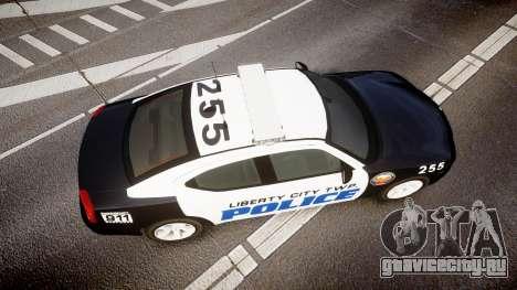 Dodge Charger 2006 LCPD CHGR v2.0L [ELS] для GTA 4 вид справа