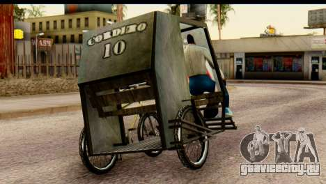 Pedicab Philippines для GTA San Andreas вид слева