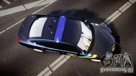 Dodge Charger 2006 Sheriff Bohan [ELS] для GTA 4 вид справа