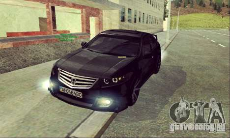 Honda Accord Type S 2008 LT для GTA San Andreas