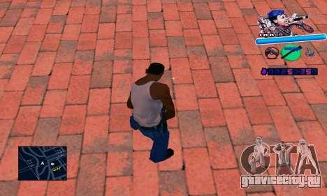 C-HUD Wiz Khalifa для GTA San Andreas второй скриншот