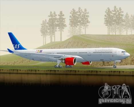 Airbus A330-300 Scandinavian Airlines для GTA San Andreas вид слева