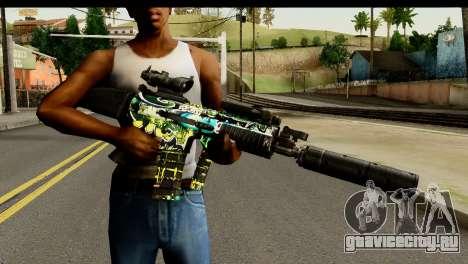 Grafiti M4 для GTA San Andreas третий скриншот