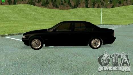 BMW 730i для GTA San Andreas вид изнутри