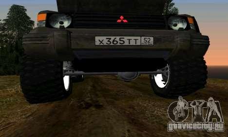 Mitsubishi Pajero Off-Road для GTA San Andreas двигатель