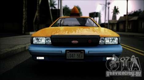 Taxi Vapid Stanier II from GTA 4 IVF для GTA San Andreas вид справа