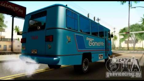Chevrolet Bus для GTA San Andreas вид сзади слева