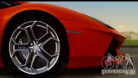 Lamborghini Aventador для GTA San Andreas вид справа