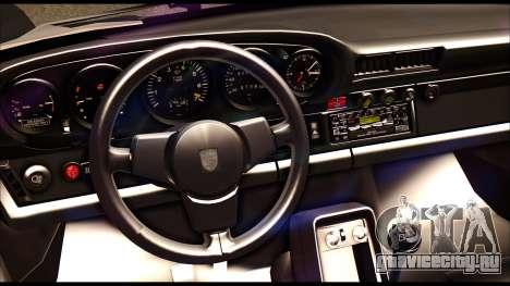 Porsche 911 1980 Winter Release для GTA San Andreas вид изнутри