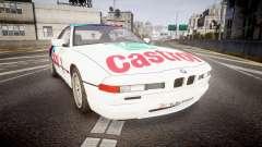 BMW E31 850CSi 1995 [EPM] Castrol White