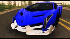 Lamborghini Veneno White-Black 2015 (ADD IVF) для GTA San Andreas