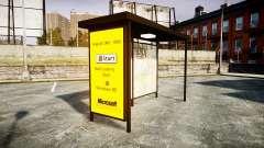 Реклама Windows 95 на автобусных остановках