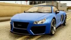 GTA 5 Obey 9F Cabrio для GTA San Andreas