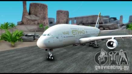 Airbus A380-800 Etihad New Livery для GTA San Andreas