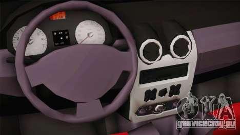Dacia Logan Most Wanted Edition v1 для GTA San Andreas вид сзади