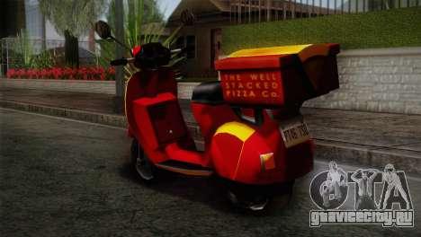 Original Pizzaboy IVF для GTA San Andreas вид слева