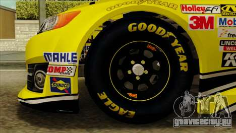 NASCAR Toyota Camry 2013 для GTA San Andreas вид сзади слева