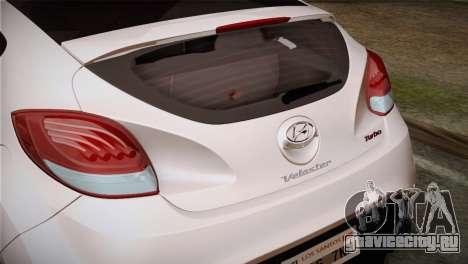 Hyundai Veloster 2012 Autovista для GTA San Andreas вид справа