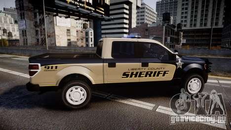 Ford F150 2010 Liberty County Sheriff [ELS] для GTA 4 вид слева