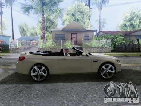 BMW M6 Cabriolet 2012 для GTA San Andreas вид сзади слева
