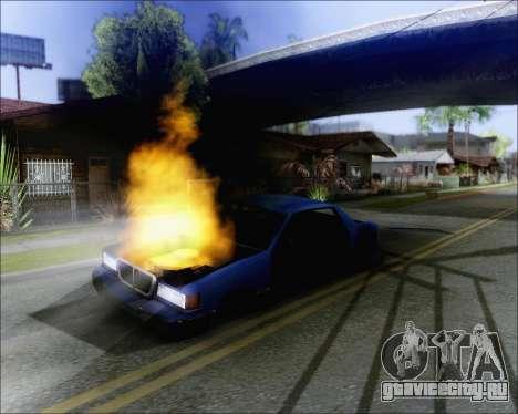 Езда на взорванном авто для GTA San Andreas