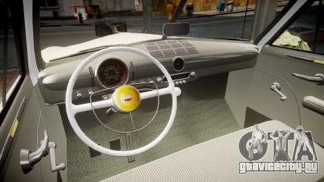 Ford Custom Club 1949 v2.1 для GTA 4 вид изнутри