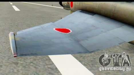 F-4EJ Mitsubishi Heavy Industries для GTA San Andreas вид сзади слева