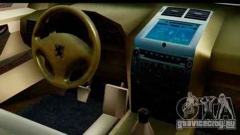 Peugeot 407 Sport Taxi для GTA San Andreas вид сбоку