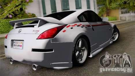 Nissan 350Z Nismo для GTA San Andreas вид слева
