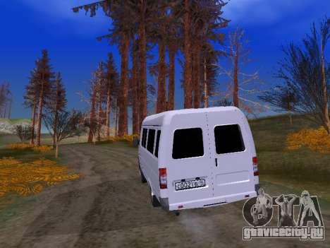 ГАЗ 2705 для GTA San Andreas вид изнутри