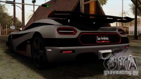 Koenigsegg One 1 для GTA San Andreas вид слева