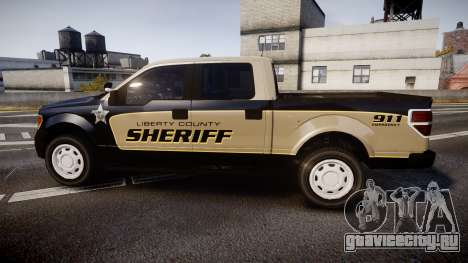 Ford F150 Liberty County Sheriff [ELS] Slicktop для GTA 4 вид слева