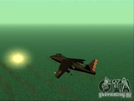 McDonnell Douglas AV-8B Harrier II Beta для GTA San Andreas вид сверху