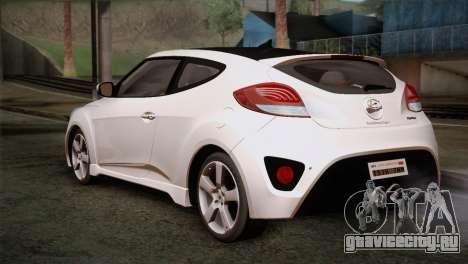 Hyundai Veloster 2012 Autovista для GTA San Andreas вид слева