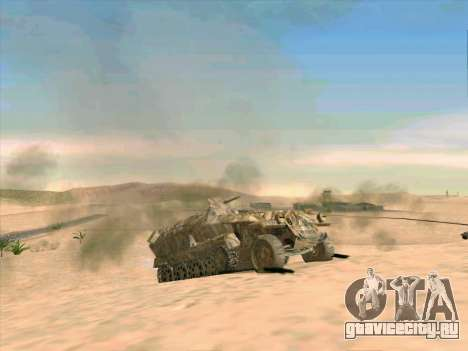 Sd Kfz 251 Пустынный Камуфляж для GTA San Andreas вид сбоку
