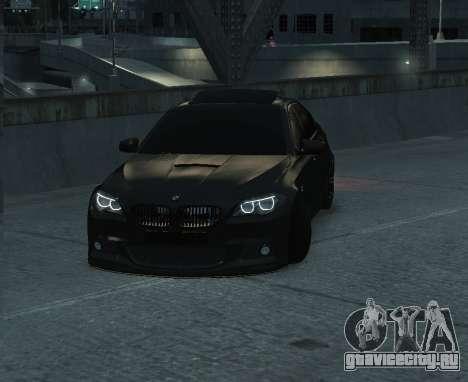 BMW M5 F10 2014 для GTA 4 вид сзади слева