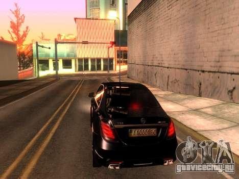 Mercedes-Benz Long S65 W222  Black loaf для GTA San Andreas вид слева