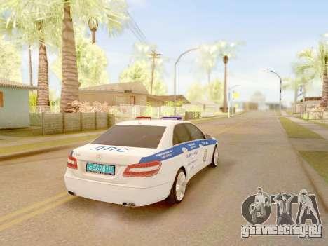 Mercedes-Benz E500 ДПС для GTA San Andreas вид слева