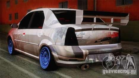 Dacia Logan Most Wanted Edition v1 для GTA San Andreas вид слева