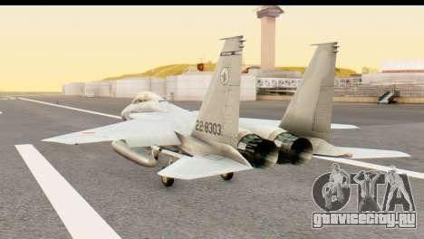 F-15DJ Mitsubishi Heavy Industries для GTA San Andreas вид слева
