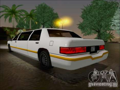 Elegant Limousine для GTA San Andreas вид сзади слева