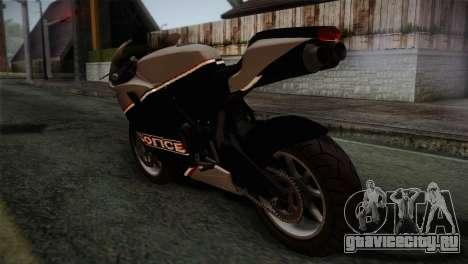 GTA 5 Bati Police для GTA San Andreas вид слева